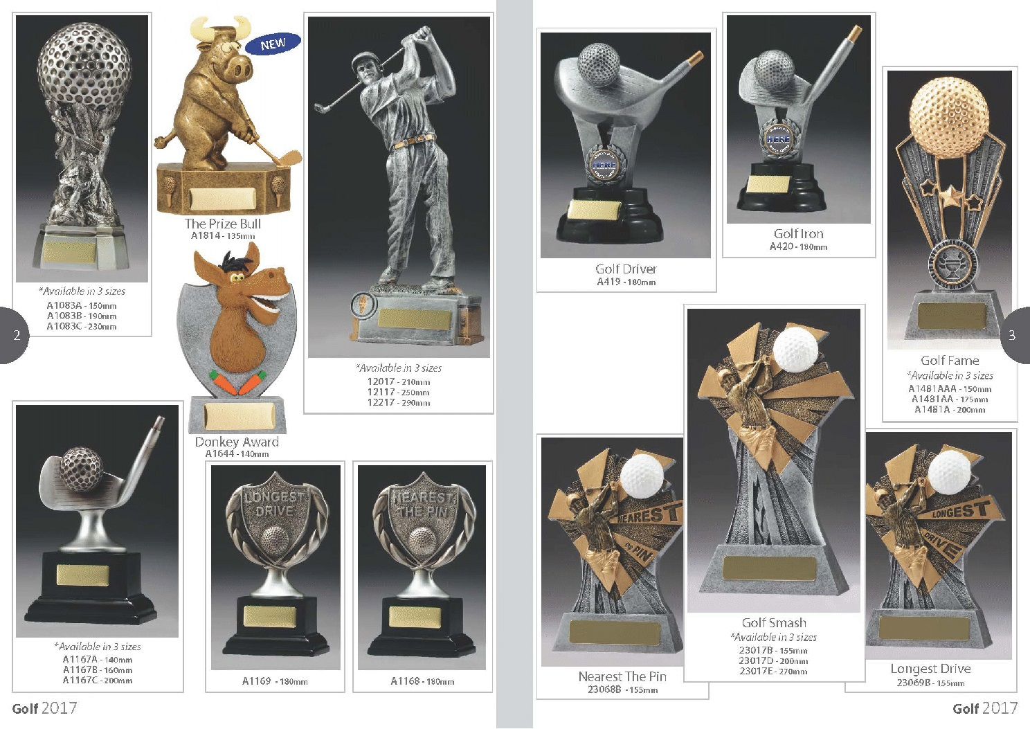 TROPHIES FOR DISTINCTION